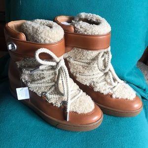 NIB Coach Monroe Shearling Boots 8